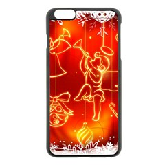 Christmas Widescreen Decoration Apple iPhone 6 Plus/6S Plus Black Enamel Case