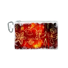Christmas Widescreen Decoration Canvas Cosmetic Bag (S)