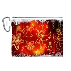 Christmas Widescreen Decoration Canvas Cosmetic Bag (L)