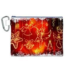 Christmas Widescreen Decoration Canvas Cosmetic Bag (XL)