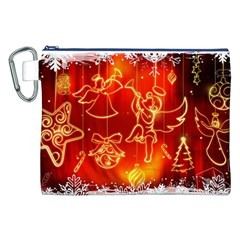 Christmas Widescreen Decoration Canvas Cosmetic Bag (XXL)