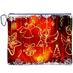 Christmas Widescreen Decoration Canvas Cosmetic Bag (XXXL)