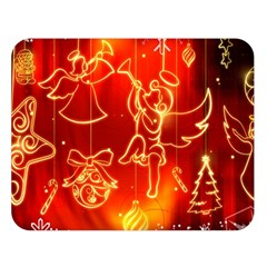 Christmas Widescreen Decoration Double Sided Flano Blanket (Large)