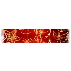 Christmas Widescreen Decoration Flano Scarf (Small)