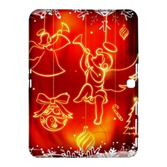 Christmas Widescreen Decoration Samsung Galaxy Tab 4 (10.1 ) Hardshell Case