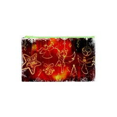 Christmas Widescreen Decoration Cosmetic Bag (XS)