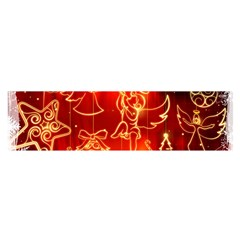 Christmas Widescreen Decoration Satin Scarf (Oblong)