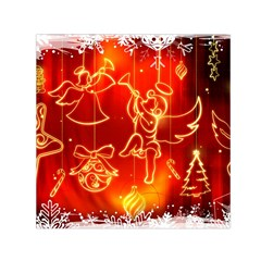 Christmas Widescreen Decoration Small Satin Scarf (Square)