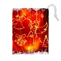 Christmas Widescreen Decoration Drawstring Pouches (Extra Large)