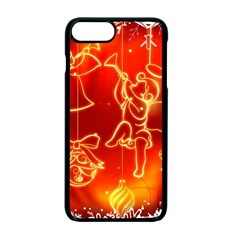 Christmas Widescreen Decoration Apple iPhone 7 Plus Seamless Case (Black)