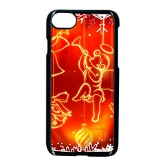 Christmas Widescreen Decoration Apple iPhone 7 Seamless Case (Black)