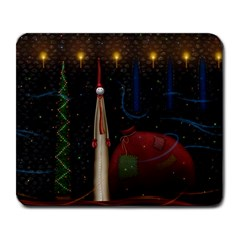 Christmas Xmas Bag Pattern Large Mousepads