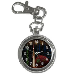 Christmas Xmas Bag Pattern Key Chain Watches