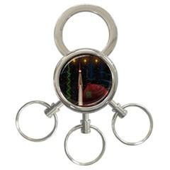Christmas Xmas Bag Pattern 3-Ring Key Chains