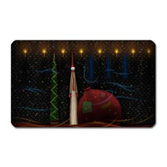 Christmas Xmas Bag Pattern Magnet (Rectangular)