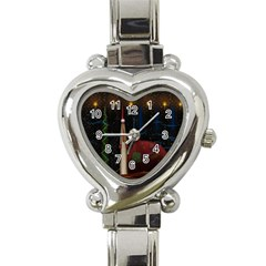 Christmas Xmas Bag Pattern Heart Italian Charm Watch