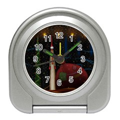 Christmas Xmas Bag Pattern Travel Alarm Clocks