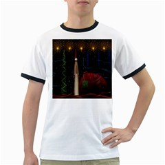 Christmas Xmas Bag Pattern Ringer T-Shirts