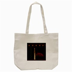 Christmas Xmas Bag Pattern Tote Bag (Cream)
