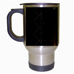 Christmas Xmas Bag Pattern Travel Mug (Silver Gray)