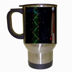 Christmas Xmas Bag Pattern Travel Mugs (White)