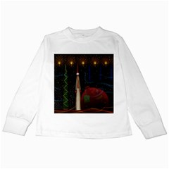 Christmas Xmas Bag Pattern Kids Long Sleeve T-Shirts
