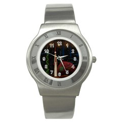 Christmas Xmas Bag Pattern Stainless Steel Watch