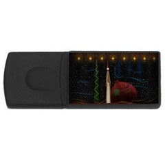 Christmas Xmas Bag Pattern USB Flash Drive Rectangular (4 GB)