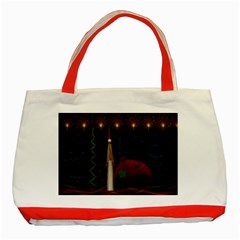 Christmas Xmas Bag Pattern Classic Tote Bag (Red)