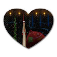 Christmas Xmas Bag Pattern Heart Mousepads