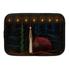 Christmas Xmas Bag Pattern Netbook Case (Medium)