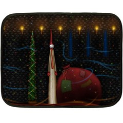 Christmas Xmas Bag Pattern Fleece Blanket (Mini)