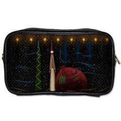Christmas Xmas Bag Pattern Toiletries Bags
