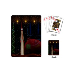 Christmas Xmas Bag Pattern Playing Cards (Mini)