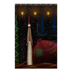 Christmas Xmas Bag Pattern Shower Curtain 48  x 72  (Small)
