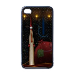 Christmas Xmas Bag Pattern Apple iPhone 4 Case (Black)