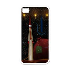 Christmas Xmas Bag Pattern Apple iPhone 4 Case (White)