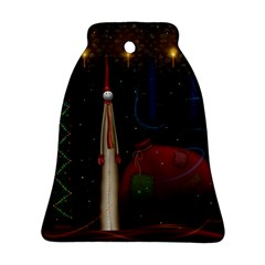Christmas Xmas Bag Pattern Ornament (Bell)