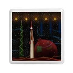 Christmas Xmas Bag Pattern Memory Card Reader (Square)