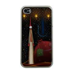Christmas Xmas Bag Pattern Apple iPhone 4 Case (Clear)