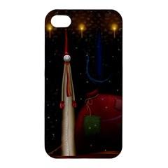 Christmas Xmas Bag Pattern Apple iPhone 4/4S Hardshell Case