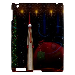 Christmas Xmas Bag Pattern Apple iPad 3/4 Hardshell Case