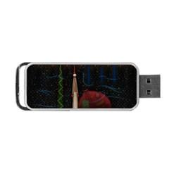 Christmas Xmas Bag Pattern Portable USB Flash (One Side)