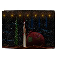 Christmas Xmas Bag Pattern Cosmetic Bag (XXL)