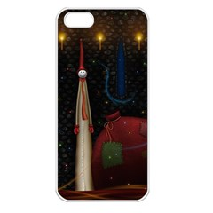 Christmas Xmas Bag Pattern Apple iPhone 5 Seamless Case (White)