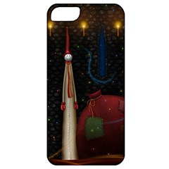 Christmas Xmas Bag Pattern Apple iPhone 5 Classic Hardshell Case