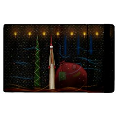 Christmas Xmas Bag Pattern Apple iPad 3/4 Flip Case