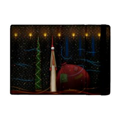 Christmas Xmas Bag Pattern Apple iPad Mini Flip Case