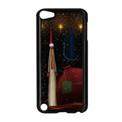 Christmas Xmas Bag Pattern Apple iPod Touch 5 Case (Black)