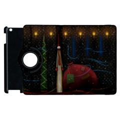 Christmas Xmas Bag Pattern Apple iPad 2 Flip 360 Case